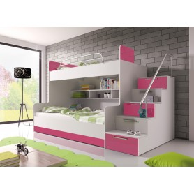 Łóżko dziecięce/młodzieżowe RAJ 2 - wysoki połysk, różne kolory !