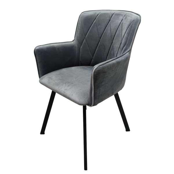 Krzesło tapicerowane VIKTORIA szare