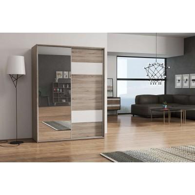 Szafa S12 z lustrem i drzwiami przesuwnymi