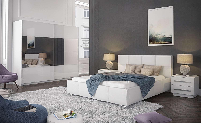 Sypialnia CALIA w wysokim połysku