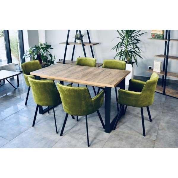 Zestaw mebli VENICE 125 cm stół nierozkładany + 4 krzesła