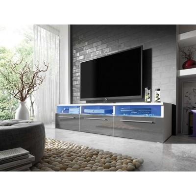 Szafka RTV 2 wysoki połysk, 3 kolory + LED GRATIS