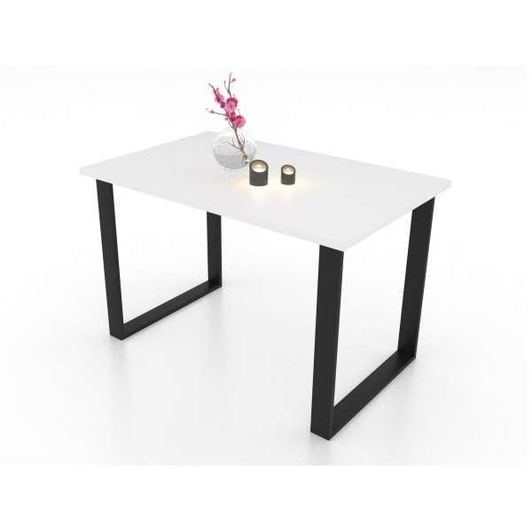 Stół ART 125 cm nierozkładany biały mat