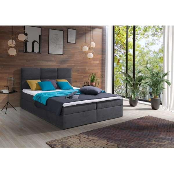 Łóżko tapicerowane CROSER z materacem