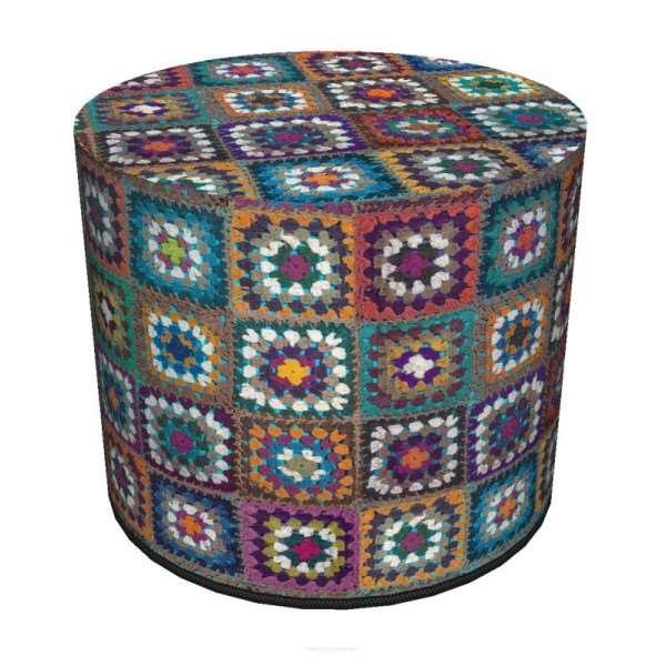 Okrągła pufa dekoracyjna 40x40