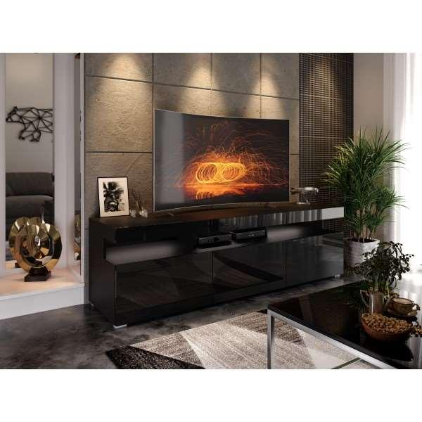 Szafka pod telewizor W9.314 VANCOUVER czarny połysk