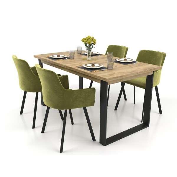 Zestaw mebli VENICE stół rozkładany 150-190 cm z 4 krzesłami