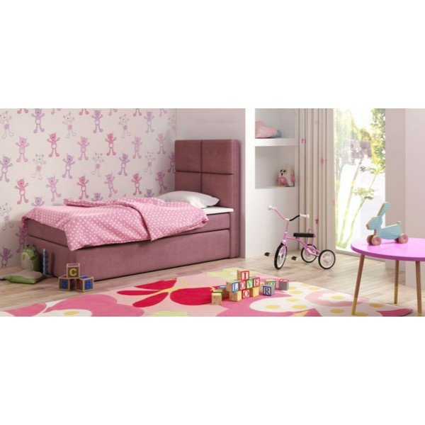 Łóżko pojedyncze tapicerowane SAM