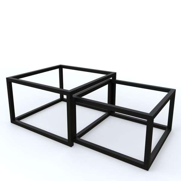 Kwadratowy stelaż do ławy 2w1 profil 30x30 mm