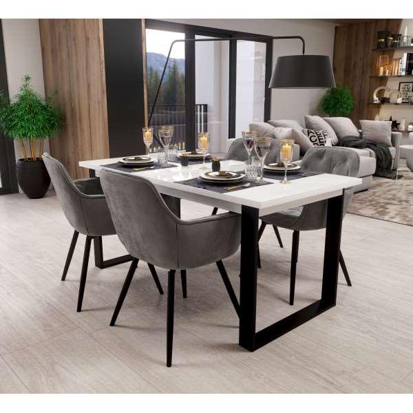 Zestaw mebli FENIX ze stołem rozkładanym i 4 krzesłami