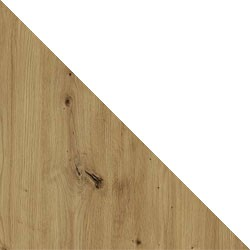 Dąb artisan / biały mat