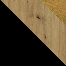 Czarny / dąb artisan + Monolith 48