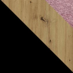 Czarny / dąb artisan + Monolith 63