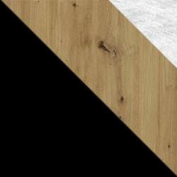 Czarny / dąb artisan + Monolith 84