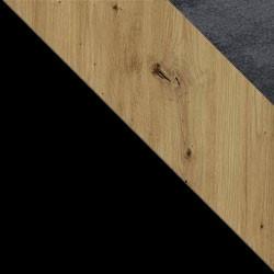 Czarny / dąb artisan + Monolith 97