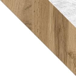 Biały / dąb wotan + Monolith 84