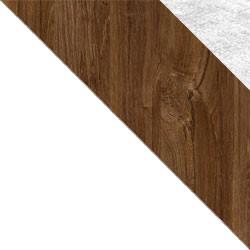 Biały / dąb stirling + Monolith 84