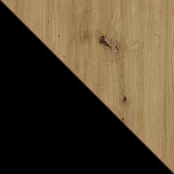 Czarny / dąb artisan