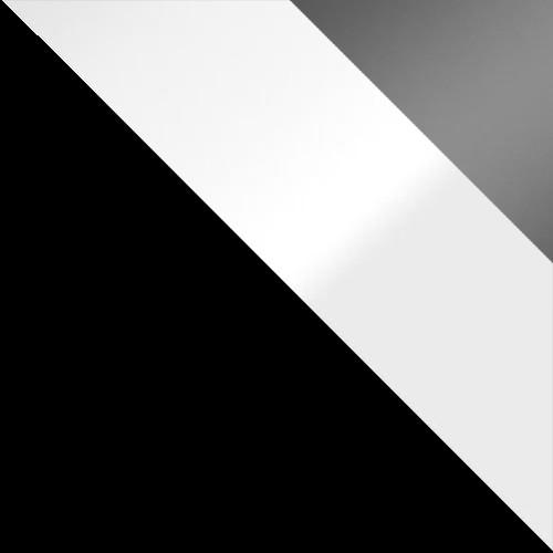 Czarny / biały połysk + szary połysk