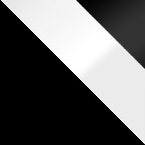 Czarny / biały połysk + czarny połysk