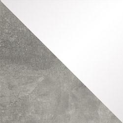 Beton / biały połysk