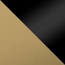 Złoty mat / czarny połysk