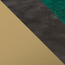 Złoty mat / ciemny beton + butelkowa zieleń