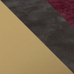 Złoty mat / ciemny beton + bordo