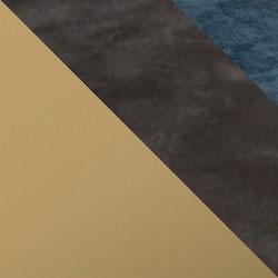 Złoty mat / ciemny beton + granat