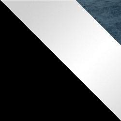 Czarny / biały połysk + granat