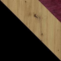 Czarny / dąb artisan + bordo