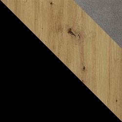 Czarny / dąb artisan + Monolith 85