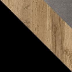 Czarny / dąb wotan + Monolith 85