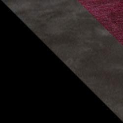 Czarny / ciemny beton + bordo