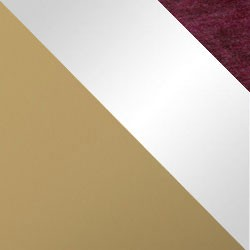 Złoty mat / biały połysk + bordo