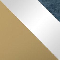 Złoty mat / biały połysk + granat