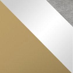Złoty mat / biały połysk + szary
