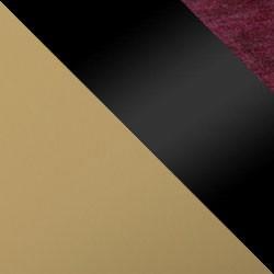 Złoty mat / czarny połysk + bordo