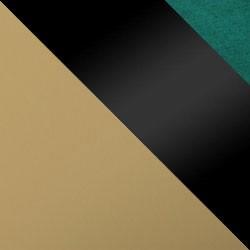 Złoty mat / czarny połysk + butelkowa zieleń