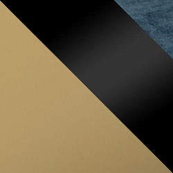 Złoty mat / czarny połysk + granat