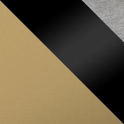 Złoty mat / czarny połysk + szary