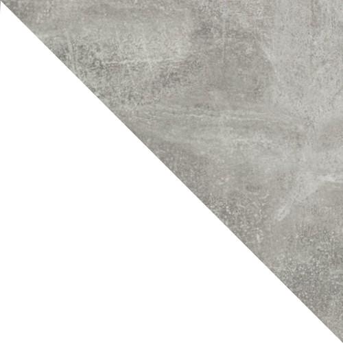 Biały / listwa beton